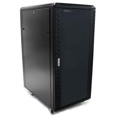 StarTech 25U 36in Knock-Down Server Rack Cabinet with Casters RK2536BKF