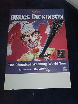 Bruce Dickinson Iron Maiden Signed Poster