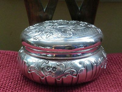 Magnificant Large Crcular silver box with nice detailing ,French ?