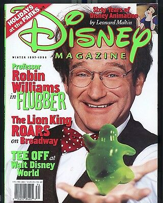 Disney Magazine : Winter 1997-1998  Robin Williams - Flubber