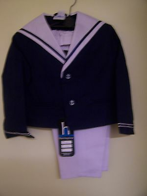 Vintage Harrington White And Blue Sailor Suit Jacket And Trousers