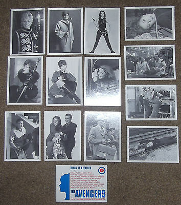 Rare, Vintage Trading Cards - The Avengers, 1992 - Set Of 14 Cards - British Tv
