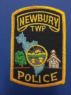 Newbury Ohio  Police Shoulder  Patch  Used Old