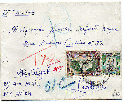 Southern Rhodesia Cover to Portugal