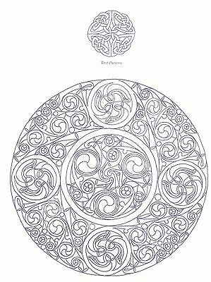 Circular Celtic Design ~ Iron-on Embroidery Transfer Pattern 03