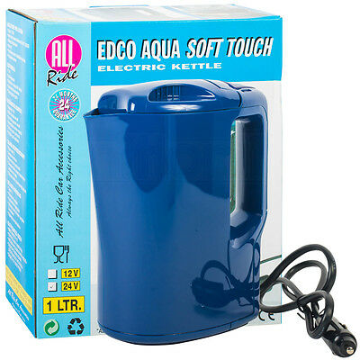 24V Electric Travel Kettle Lorry Van Truck HGV Soft Touch Portable 1 Litre