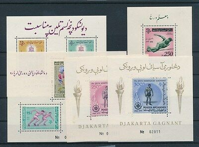 [G74472] Afghanistan 1962/63 5 good sheets Very Fine MNH