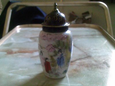 Old Unmarked Japanee Style Ceramic Sugar Shaker/sifter