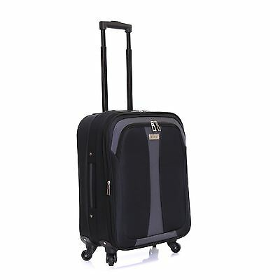 Ryanair Easyjet 55cm Spinner Expandable Cabin Luggage Suitcase Trolley Case Bag