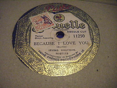 Irving Kaufman*love Me All The Time/because I Love You*vg