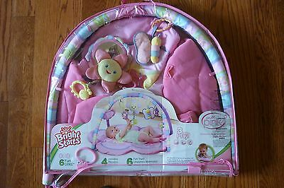 Bright Starts Pretty In Pink Musical Infant Activity  Play Mat/gym Toys/music