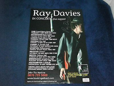 Ray Davies The Kinks Signed Poster