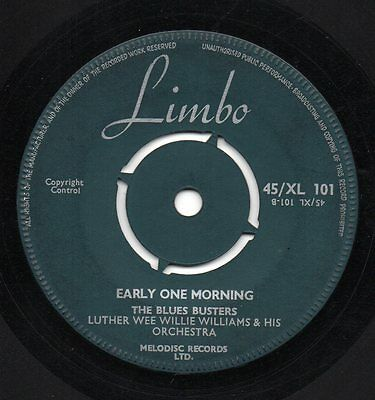 Hear - Blues Busters - Early One Morning - Uk Limbo 1961 Rare Mod/r&b Brill