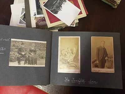 Antique Photograph Album And Photographs 1920s-1950s 180 Photos In Total