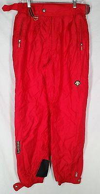 Descente Insulated Men's Ski Insulated Pants RED COLOR Snowpants SIZE 34