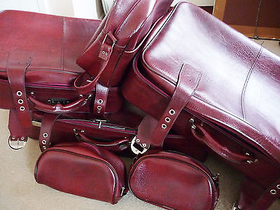 Collection of Vintage Luggage suitcases; small bags; shoulder case & travel bag