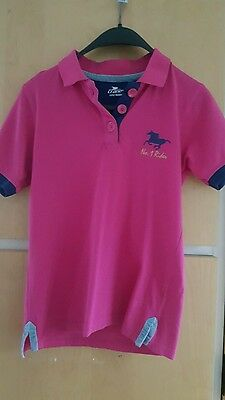 Girls Pink Horse Riding Top Age 11/12 years. Crane