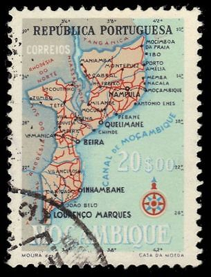 MOZAMBIQUE 394 (Mi446) - Colonial Map (pa80214)