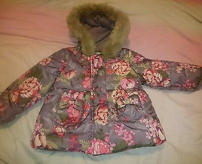 Girls floral monsoon coat age 12-18 months