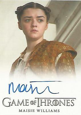"Game of Thrones Season 5 - Maisie Williams ""Arya Stark"" Autograph Card"
