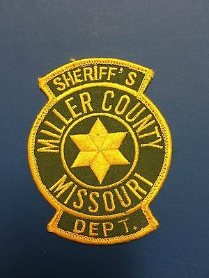 Miller County Missouri Sheriff  Shoulder  Patch Used