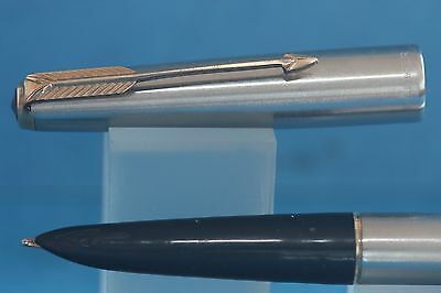 Vintage Parker 61 Flighter DeLuxe Fountain Pen with Gold Plated Trim