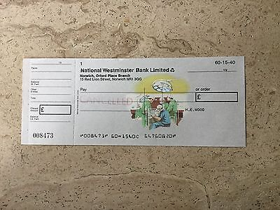 National Westminster Bank  1977pictorial cheque; British Advances in Medicine