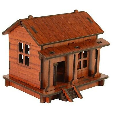 DIY House 3D Puzzle Toys Wooden Adult Children Intelligence Wood House HOT