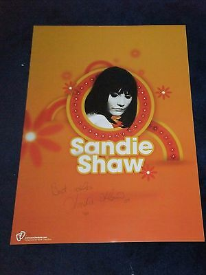 SANDIE SHAW  SIGNED POSTER  LTD EDITION No 32