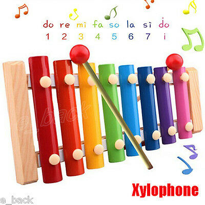 *US Stock Baby Kids Toys Xylophone Wisdom Development Wooden Instrument Musical