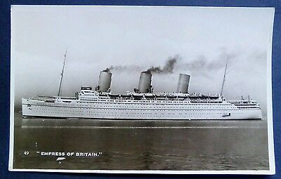 Steam Ship Empress Of Britain Real Photo Card