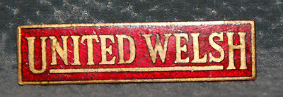 BUS DRIVERS BADGE UNITED WELSH (Oblong Type)