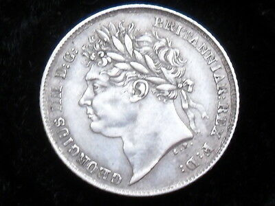 King George IV sterling silver sixpence dated 1825 very very high grade good EF