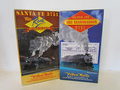 Video Rails AT&SF 3751 The Restoration/Return to Steam VHS