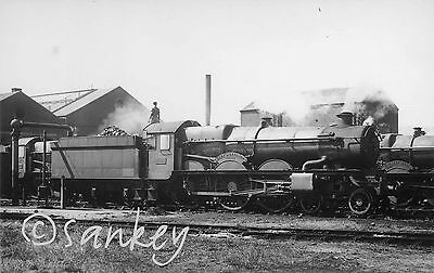GWR postcard size photo 4032 Queen Alexandra @Penzance Shed Yard