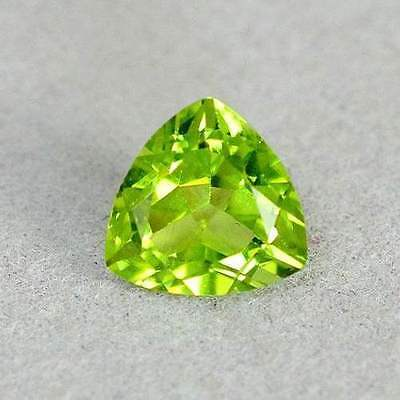 1.37 Ct Green China Peridot Trilliant Facet