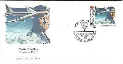 One Penny Arcade Micronesia 1996 Curtis E LeMay Flight Pioneer FDC