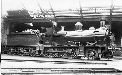 Photo Ex M&SWJR 2-4-0 No 12 GWR No 1336 seen at Reading shed c1930 W/Draw 1954