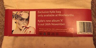 ** Very Rare **Exclusive Kylie Minogue Tote Bag X Album Promo Woolworths * Rare