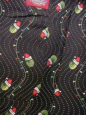 Dickies Uniforms CW050103A CHR Christmas Print Baggy Chef Pant Small Santa New