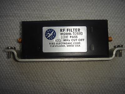 BIRD 5268G 400MHz LOW PASS FILTER c/w MOUNTING PLATE - SMA CONNECTORS
