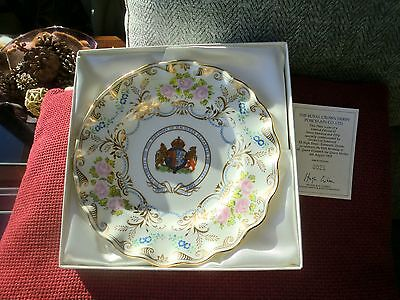 Royal Crown Derby Plate A/F .Queen Mother 95th Birthday 1900 - 1995