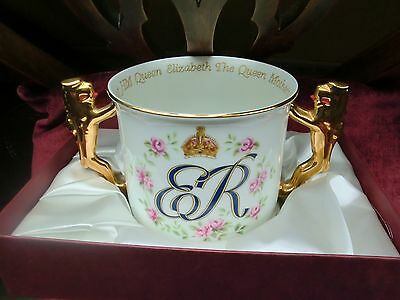 Royal Albert Cup Queen Mother 100th Birthday 1900 - 2000 Boxed Limited Edition