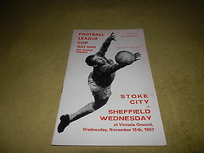 Stoke City v Sheffield Wed - League Cup 4th round replay at Victoria Ground 1967