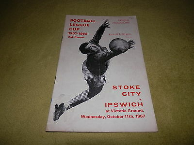 Stoke City v Ipswich Town - League Cup 3rd round at Victoria Ground in 1967