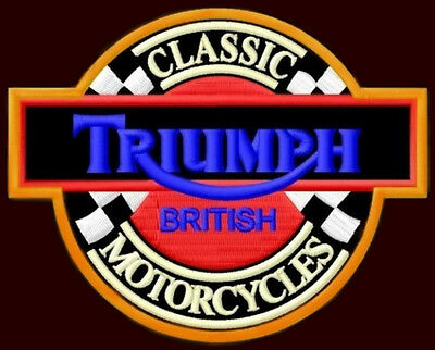 "TRIUMPH EMBROIDERED PATCH ~4-1/2""x 3-1/2"" MOTORCYCLE CAFE RACER ROCKETIII TIGER"