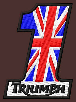 "TRIUMPH NR.1 EMBROIDERED PATCH~2-3/4""x 2"" MOTORCYCLE ROCKETIII TIGER BONNEVILLE"