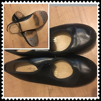 Girls Katz Black Tap Shoes Size 11 And 1/2