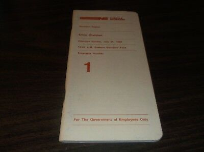 July 1988 Norfolk Southern Ohio Division Employee Timetable #1
