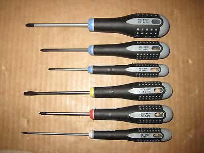 Bahco Screwdriver Set BE-8XXX Slotted/Phillips/Pozidriv/Ball-End Hex 6-Piece